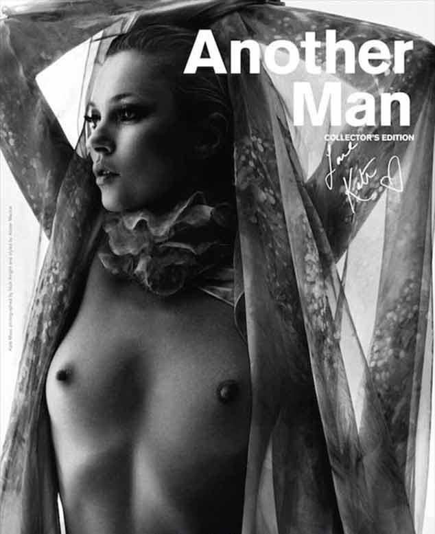 Kate Moss en topless en la portada de la revista Another Man