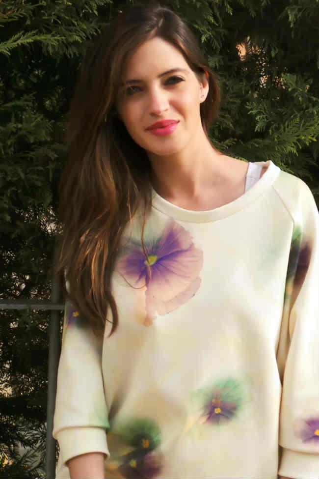 Sara Carbonero sudadera Zara