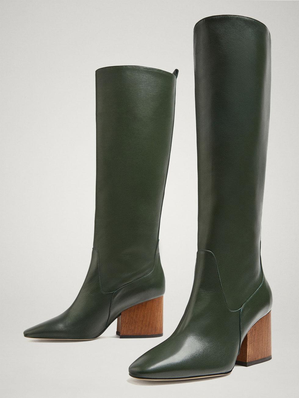 botas verdes Massimo Dutti
