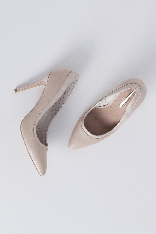 zapato combinado ribete