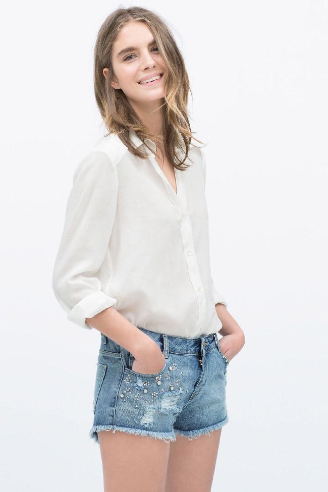 Shorts denim y estampados en las novedades de Zara