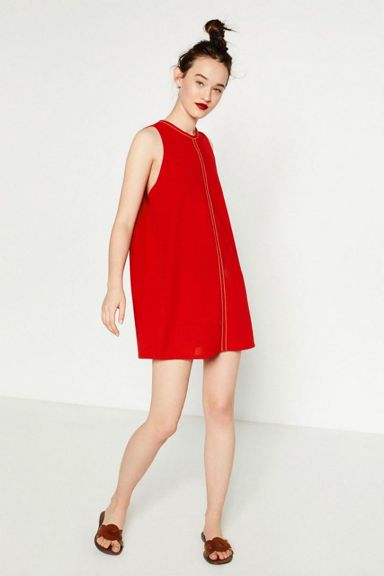 Vestidos rojos verano zara