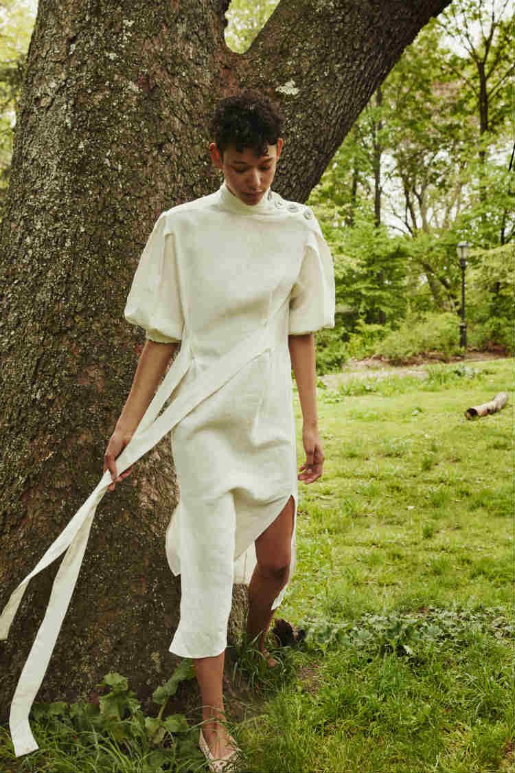 vestido zara midi blanco detalle cintas