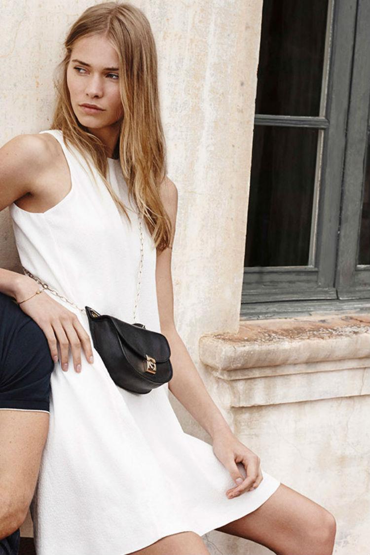 Vestido Color Blanco Massimo Dutti