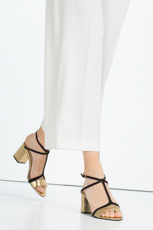 Zapatos Metalizados Zara
