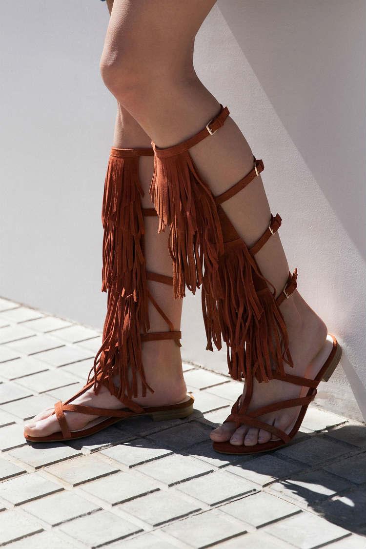 zapatos estilo gladiador bershka