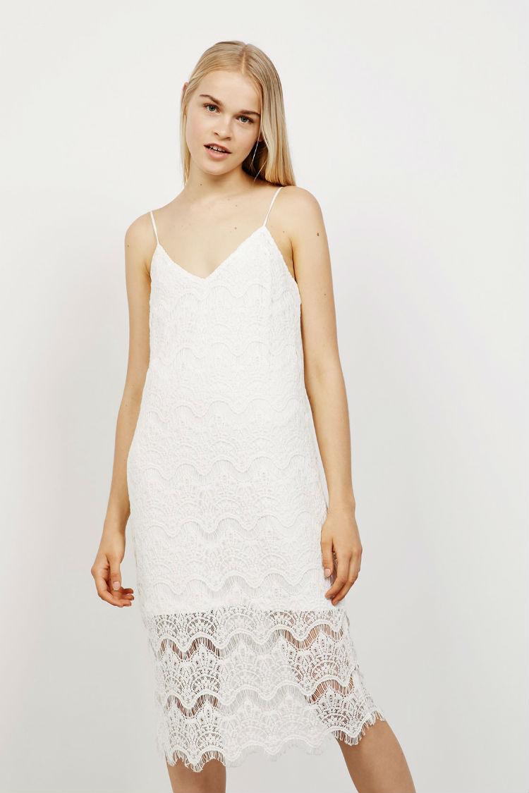 vestidos bershka blancos verano
