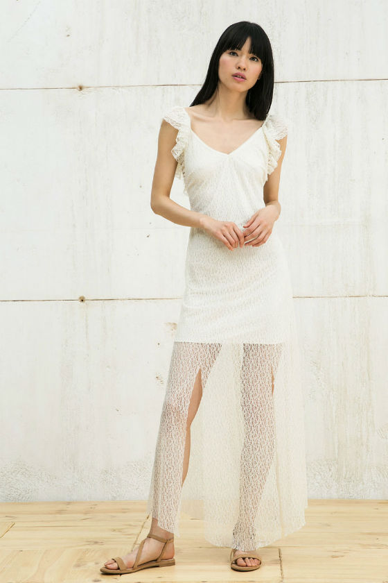 vestido blanco transparente bershka
