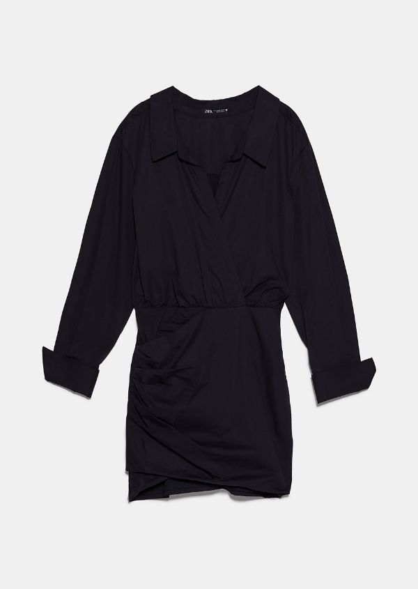 Vestido camisero Zara NEGRO - 7385/101
