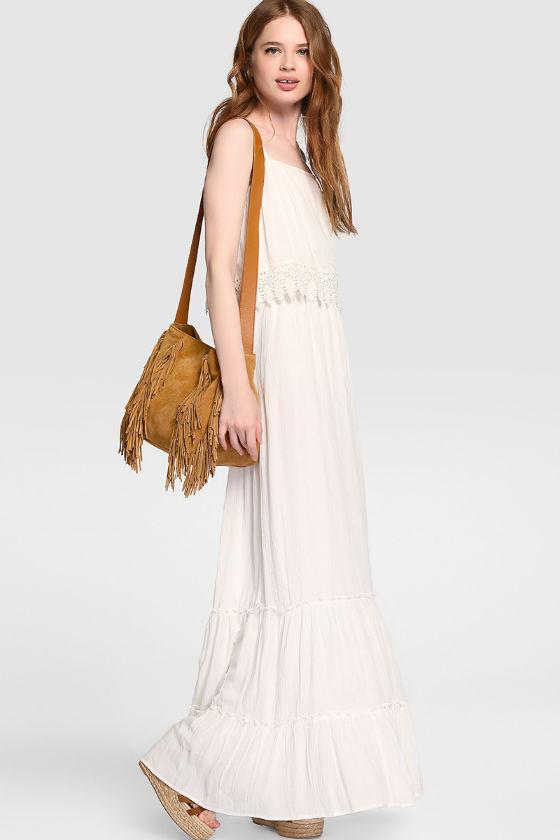 vestido largo blanco el corte ingles