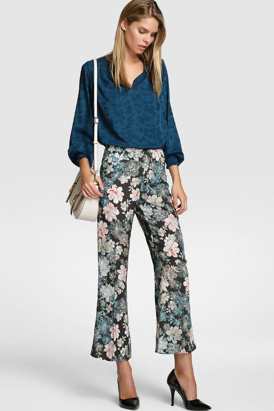 pantalon flores elogy el corte ingles