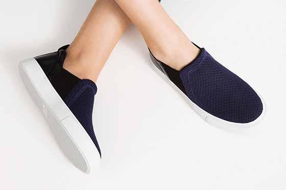 zapato lila modalia tendencia plano