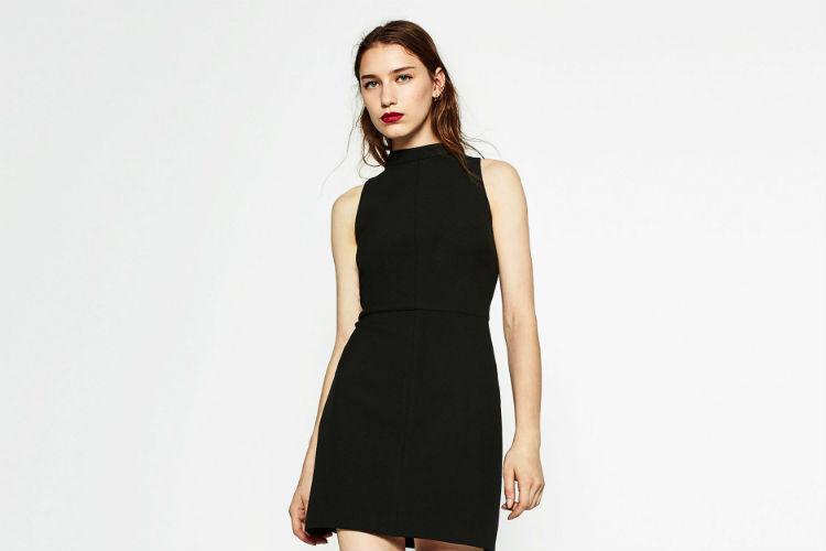 color negro coleccion vestidos zara