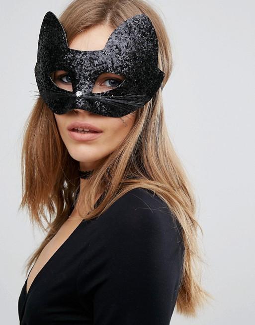Máscara de gato brillante