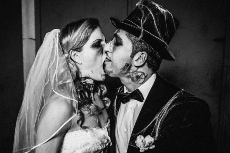 pareja en halloween