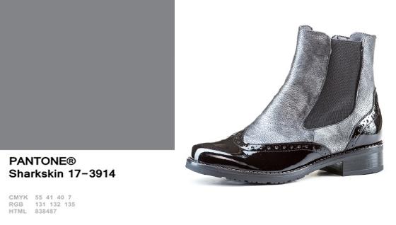 Sharkskin (grisáceo) + Sección Oxford abotinado