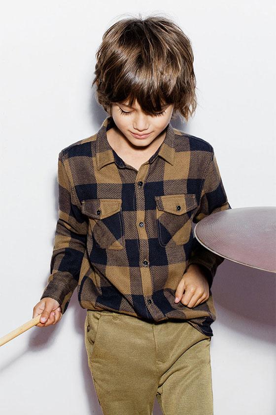 Camisa Cuadros Niño Zara Kids