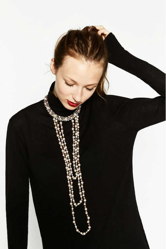 Collar de perlas ZARA