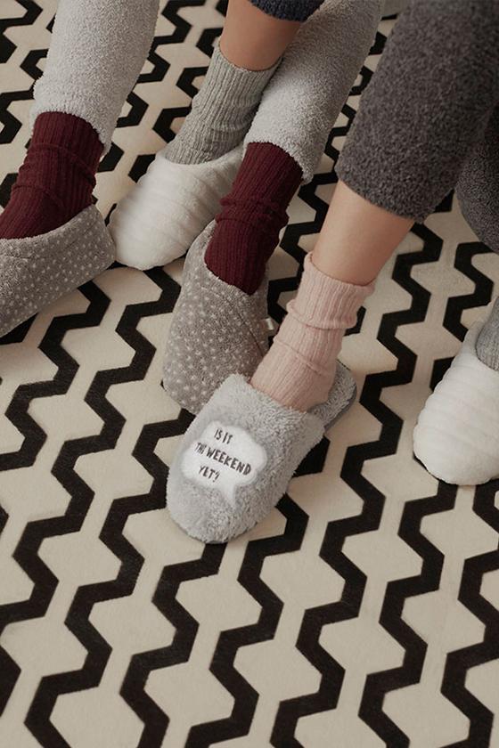 Zapatillas calcetines borrego Oysho 2016/17