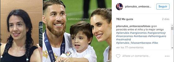 pilar rubio embarazo falso instagram