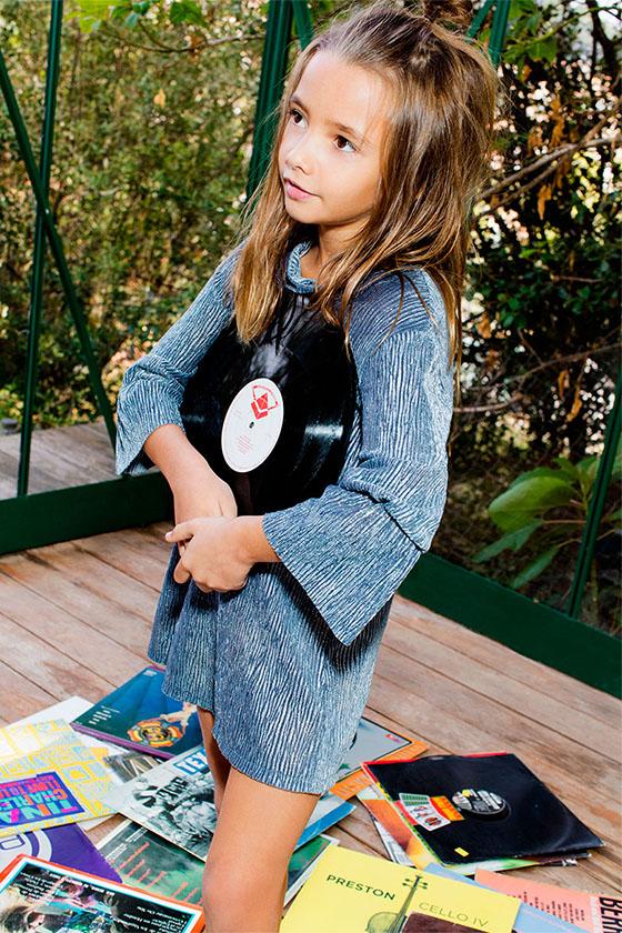 Vestido Metalizado Niña Zara Kids