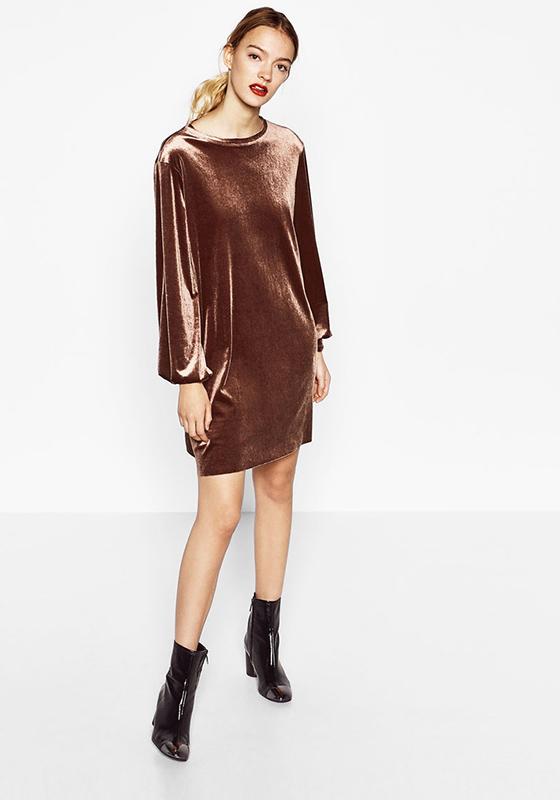 vestido terciopelo burdeos