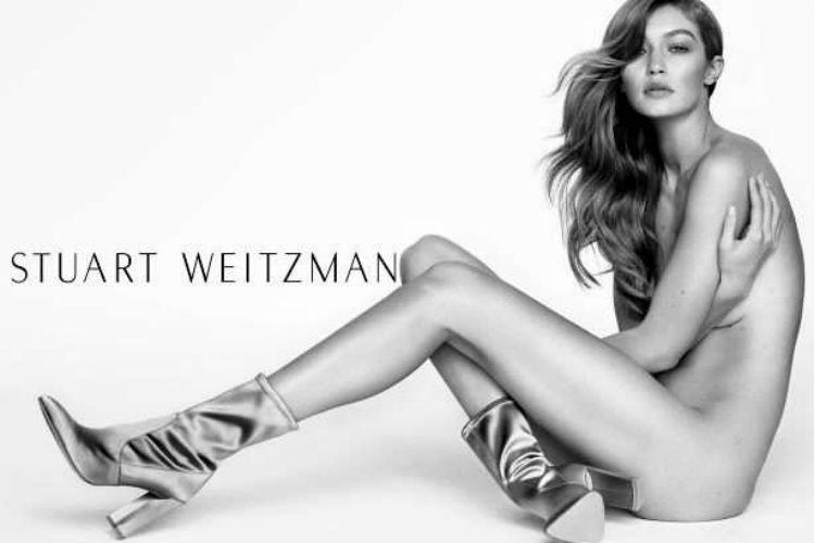 Gigi Hadid se desnuda para nueva campaña de calzado