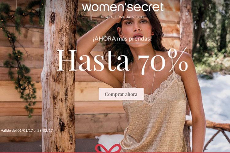 Descuentos 70% Women'secret