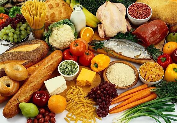 alimentos varios dieta colores