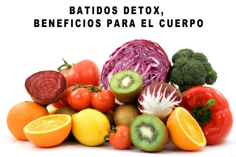 batido detox beneficios receta