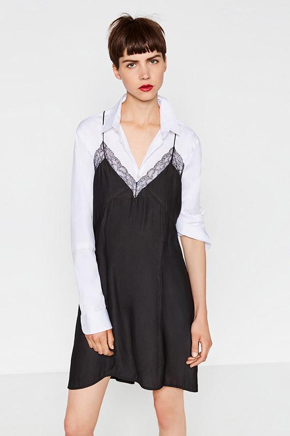camisa con vestido zara