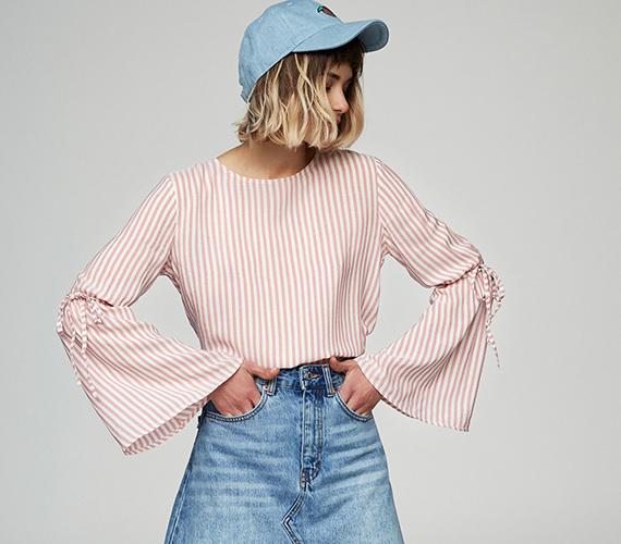 camisa manga campana pullandbear