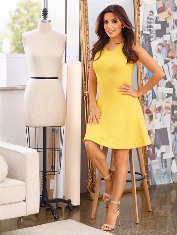 colección eva longoria vestido amarillo
