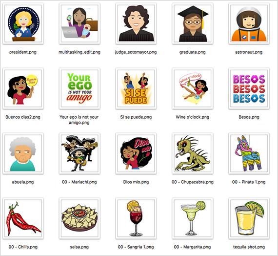 colección de emojis eva longoria evamojis