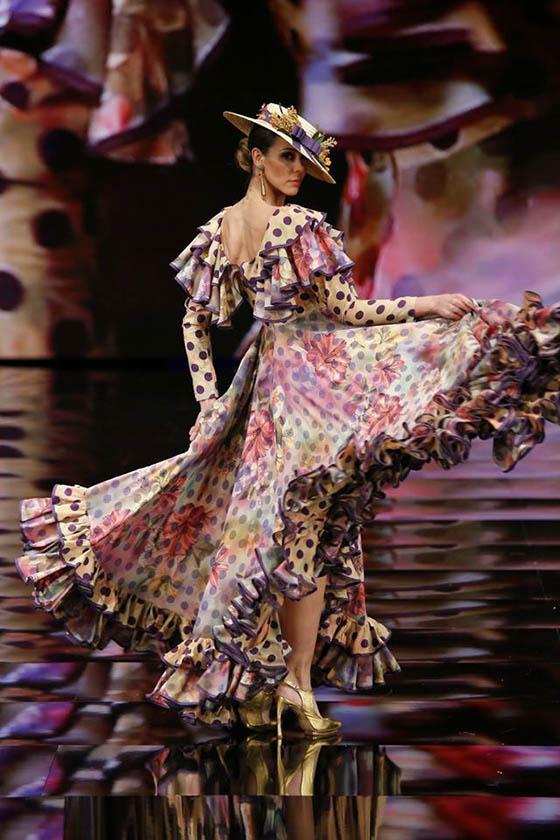 canotier vestido flamenca