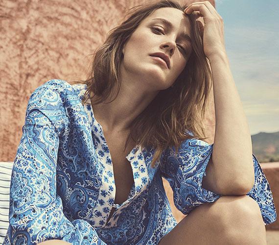 beachwear camisola azul
