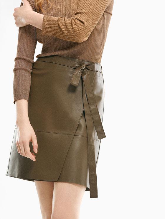 Falda de napa cruzada. Limited Edition Rebajas Verano 2017