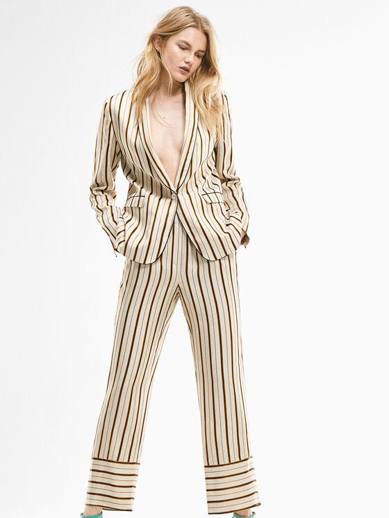 Massimo Dutti, traje de rayas Limited Edition Rebajas Verano 2017