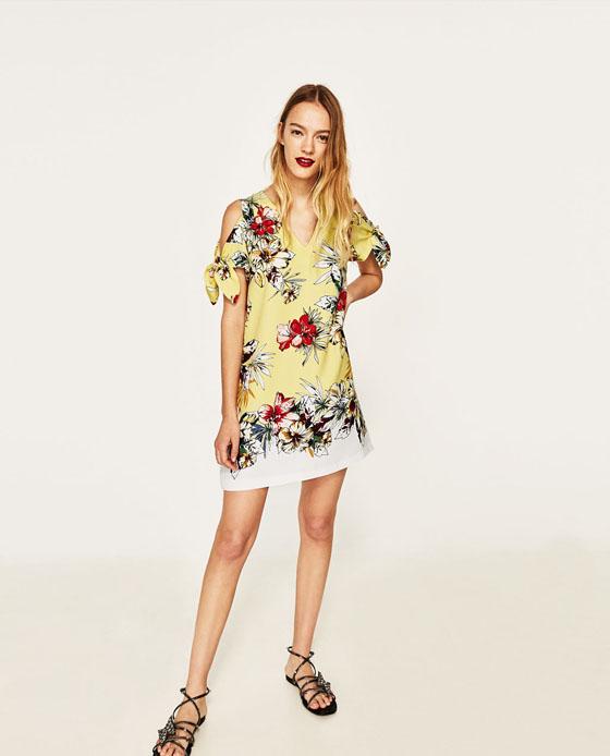 vestido zara flores verano