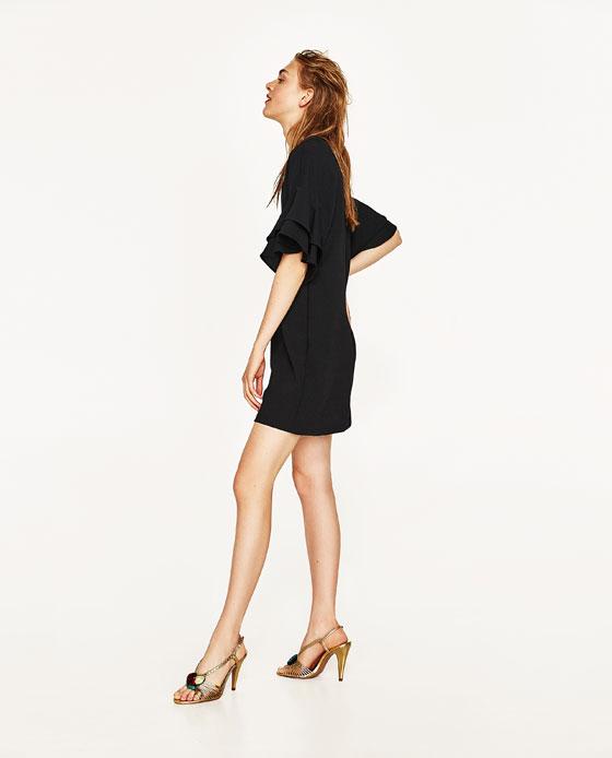 vestido zara negro corto
