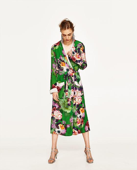 rebajas zara vestidos tunica flores
