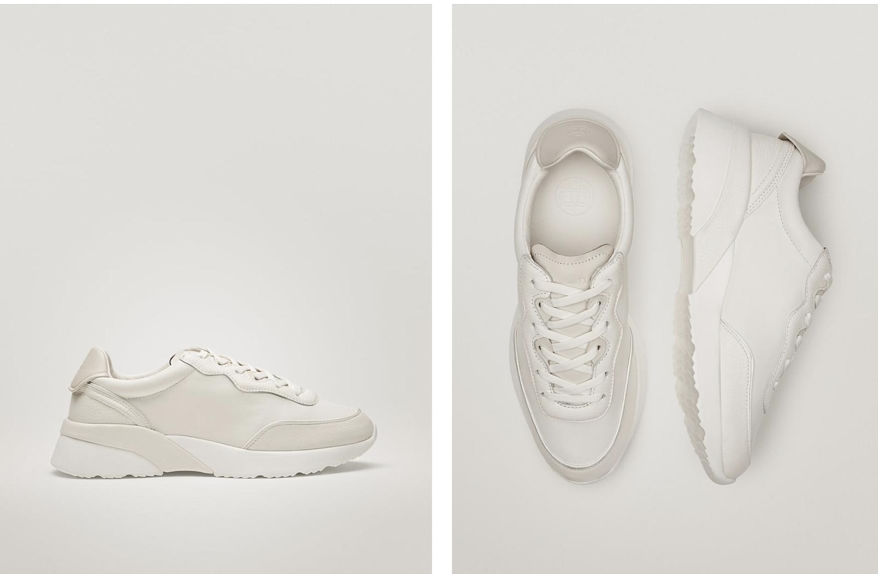 Deportivas de piel blancas de Massimo Dutti