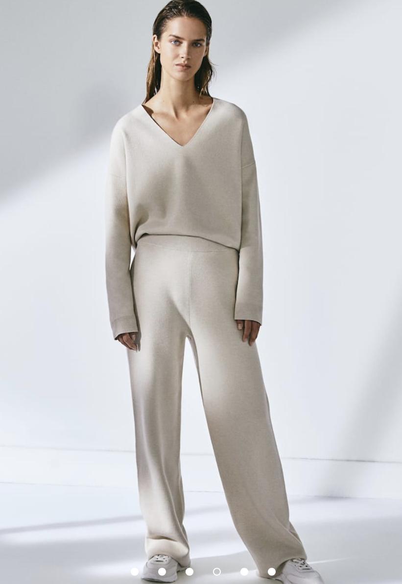 Pantalón de Massimo Dutti de punto