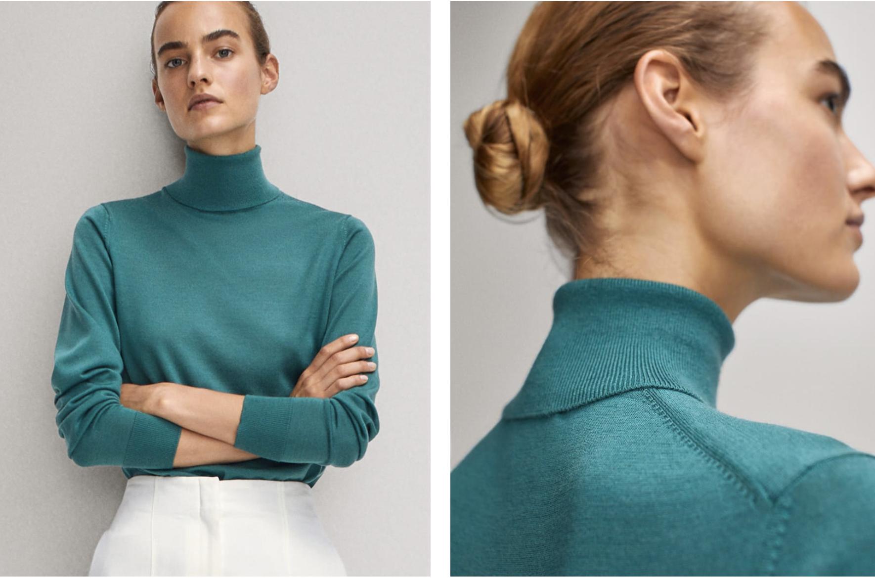 Jersey de cuello alto Massimo Dutti