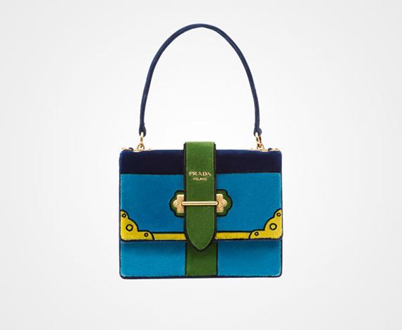 bolso Prada azul cahier