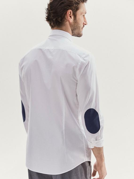 camisa con coderas de massimo dutti