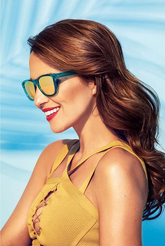 Paula Echevarría gafas sol verde