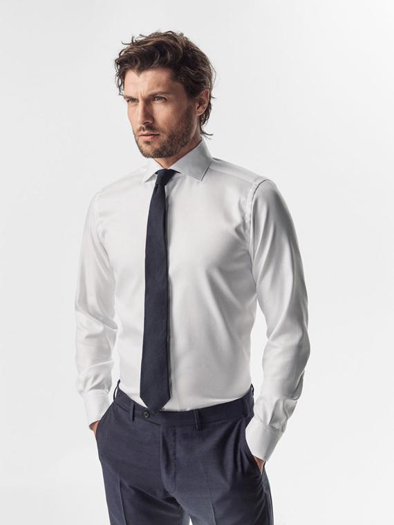 camisa lisa blanca de massimo dutti