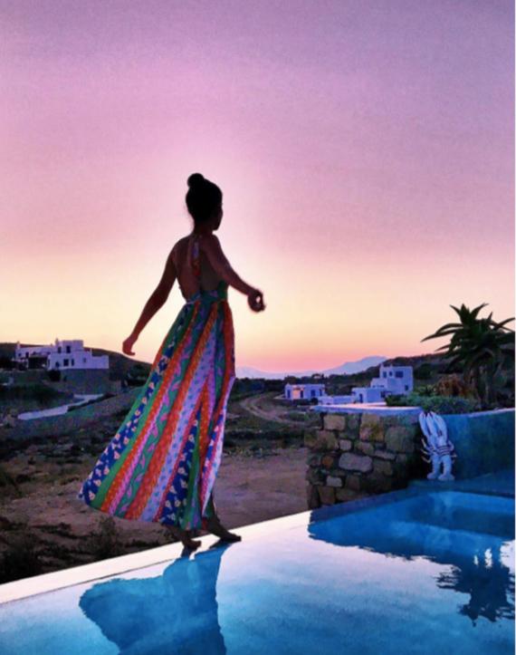 vestido multicolor de maria turiel
