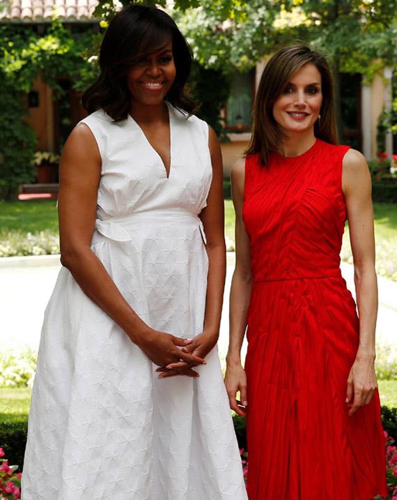 reina letizia con michelle obama